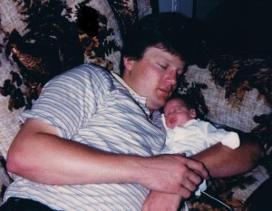 dad sleeping with me