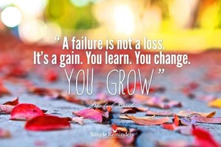 I learned, not failed